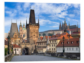 Foam board print  Prague Castle and Old Town in summer - Jan Christopher Becke