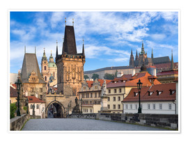 Premium poster Prague Castle and Old Town in summer