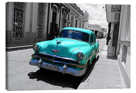 Canvas print  Colorspot - classic cars in the streets of Santa Clara, Cuba - HADYPHOTO