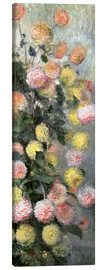 Canvas print  Dahlias - Claude Monet