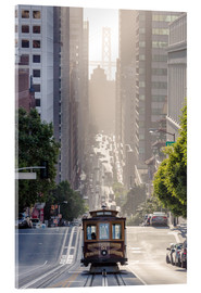 Acrylic glass  Cable car in San Francisco - Matteo Colombo