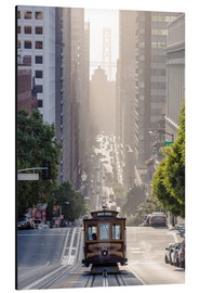 Alu-Dibond  Cable car in San Francisco - Matteo Colombo