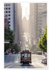 Premium poster Cable car in San Francisco