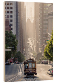 Wood print  Cable car in San Francisco - Matteo Colombo