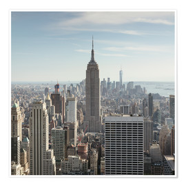 Premium poster  Manhattan skyline with Empire State building, New York city, USA - Matteo Colombo