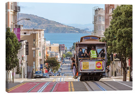 Canvas  Cable car on a hill in the streets of San Francisco, California, USA - Matteo Colombo