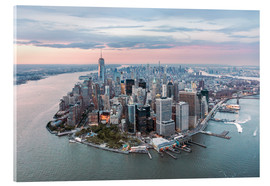 Acrylic print  Aerial view of lower Manhattan, New York - Matteo Colombo