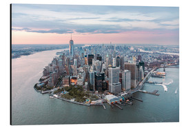 Aluminium print  Aerial view of lower Manhattan, New York - Matteo Colombo