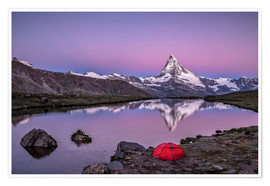Poster  Sunrise at Matterhorn - Valais, Switzerland - Achim Thomae