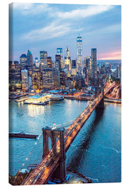 Canvas print  Brooklyn bridge and lower Manhattan - Matteo Colombo