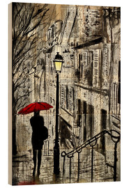 Wood print  city walk - Loui Jover
