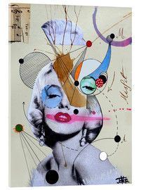 Acrylic glass  marylin for the abstract thinker  - Loui Jover