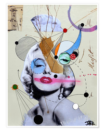 Premium poster  Marilyn for the abstract thinker - Loui Jover