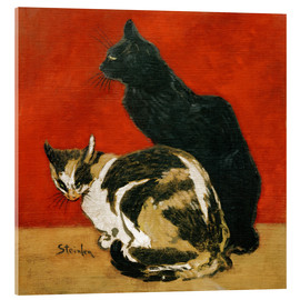 Acrylic print  The cats - Théophile-Alexandre Steinlen