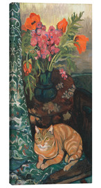 Suzanne Valadon - Bouquet and cat
