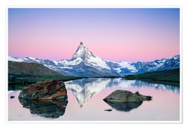 Premium poster Sunrise at Matterhorn