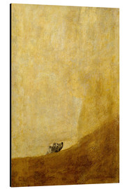 Alu-Dibond  dog - Francisco José de Goya