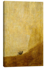Canvas  Dog - Francisco José de Goya