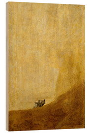 Wood print  Dog - Francisco José de Goya