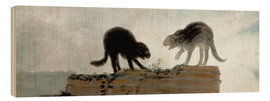 Wood  Cats fighting - Francisco José de Goya
