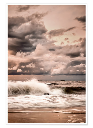 Premium poster Seascape Baltic Sea