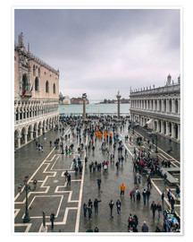 Premium poster View of St Mark's square in a cloudy day, Venice, Italy
