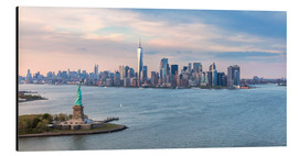 Alu-Dibond  New York skyline with Statue of Liberty - Matteo Colombo