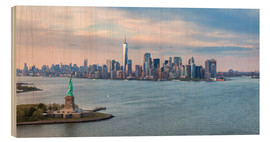 Wood  New York skyline with Statue of Liberty - Matteo Colombo