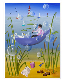 Premium poster  Resting by the Sea - Irene Brandt