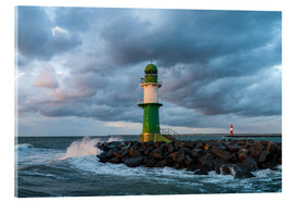 Acrylic print  Mole in Warnemuende on the Baltic Sea coast - Rico Ködder