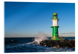 Acrylic print  Lighthouse in Warnemuende - Rico Ködder