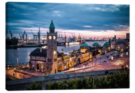 Canvas print  Evening Mood  Harbor Hamburg - Sören Bartosch
