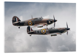 Acrylic print  BBMF SPit and Hurry - airpowerart
