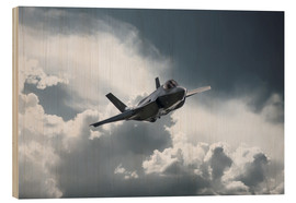 Wood print  F35 - airpowerart