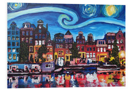 Forex  Starry Night over Amsterdam Canal with Van Gogh Inspirations - M. Bleichner