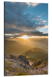 Aluminium print  Sunset in the Tyrolean Alps - Markus Kapferer
