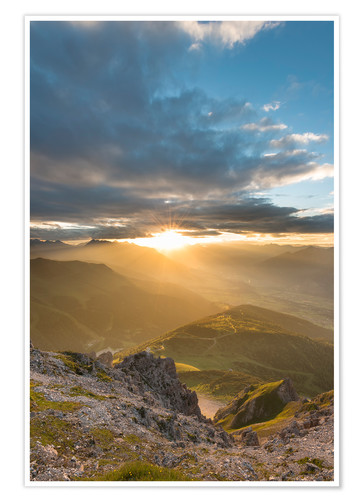 Premium poster Sunset in the Tyrolean Alps