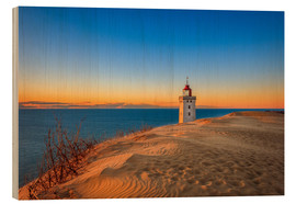 Wood print  Lighthouse in the dunes - Reemt Peters-Hein