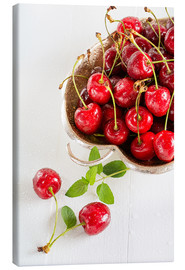 Canvas print  A bowl of delicious cherries - Edith Albuschat