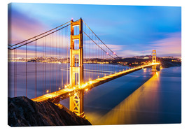 Canvas print  Sunrise over Golden gate bridge and San Francisco bay, California, USA - Matteo Colombo