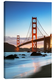 Canvas print  Golden gate bridge at dawn from Baker beach, San Francisco, California, USA - Matteo Colombo