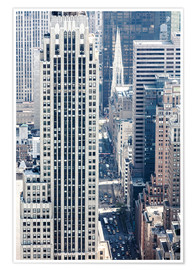 Premium poster  Elevated view of 5th avenue, Manhattan, New York city, USA - Matteo Colombo