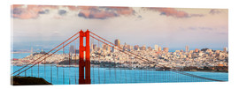 Acrylic glass  Panoramic sunset over Golden gate bridge and San Francisco bay, California, USA - Matteo Colombo