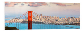 Forex  Panoramic sunset over Golden gate bridge and San Francisco bay, California, USA - Matteo Colombo