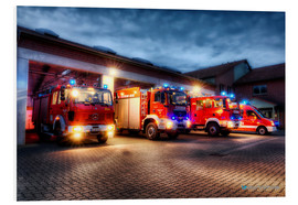 Foam board print  German Firetrucks - Markus Will