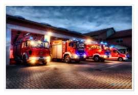 Premium poster German Firetrucks