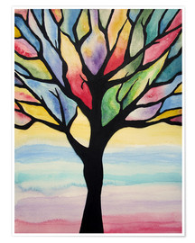 Poster Colorful tree