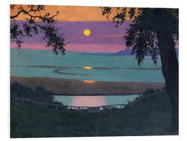 Foam board print  sunset - Felix Edouard Vallotton