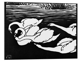 Foam board print  The swans - Felix Edouard Vallotton