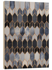 Wood print  Stained Glass 3 - Elisabeth Fredriksson